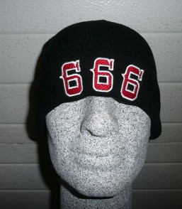 Black Beanie '666'
