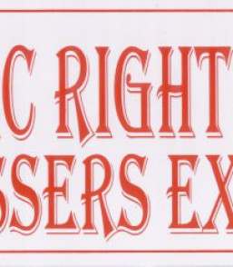 No Public Right…